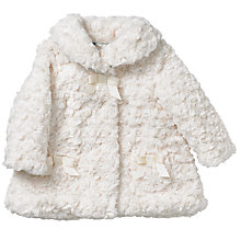 Buy John Lewis Faux Fur Coat, Cream Online at johnlewis.com