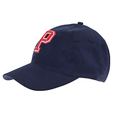 Buy Polarn O. Pyret Baby Baseball Cap, Navy Online at johnlewis.com