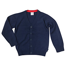 Buy Polarn O. Pyret Baby Fine Knit Cardigan, Navy Online at johnlewis.com