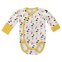 Buy Polarn O. Pyret Clouds and Balloons Bodysuit, Yellow Online at johnlewis.com