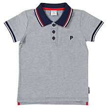 Buy Polarn O. Pyret Baby Stripe Collar Polo Shirt, Navy Online at johnlewis.com