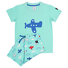 Buy Polarn O. Pyret Baby Plane Print Pyjamas, Light Blue Online at johnlewis.com