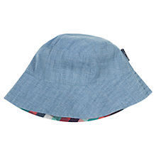 Buy Polarn O. Pyret Reversible Chambray Sun Hat, Blue Online at johnlewis.com