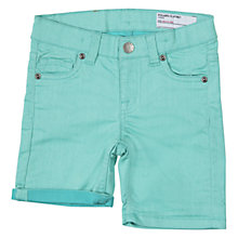 Buy Polarn O. Pyret Denim Shorts, Turquoise Online at johnlewis.com