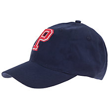 Buy Polarn O. Pyret 'P' Logo Baseball Cap, Navy Online at johnlewis.com