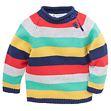 Buy John Lewis Multistripe Piecrust Collar Jumper, Multi Online at johnlewis.com