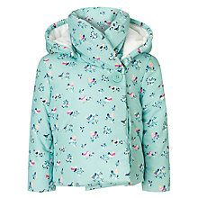 Buy John Lewis Bird Motif Wadded Jacket, Teal Online at johnlewis.com