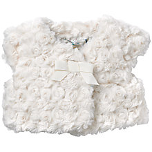 Buy John Lewis Faux Fur Shrug, Cream Online at johnlewis.com