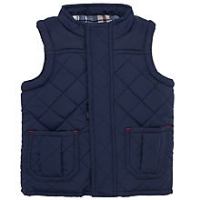 Buy John Lewis Quilted Gilet, Navy Online at johnlewis.com