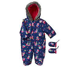 Buy John Lewis Baby Floral Print Snowsuit, Multi Online at johnlewis.com