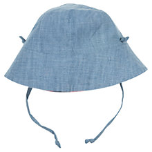 Buy Polarn O. Pyret Baby Reversible Sun Hat, Blue Online at johnlewis.com
