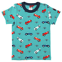 Buy Polarn O. Pyret Car Print T-Shirt, Blue Online at johnlewis.com