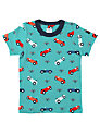 Polarn O. Pyret Car Print T-Shirt, Blue