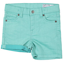 Buy Polarn O. Pyret Baby Denim Shorts, Turquoise Online at johnlewis.com