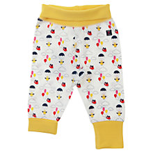 Buy Polarn O. Pyret Baby Bird Print Trousers, White/Yellow Online at johnlewis.com