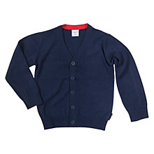 Buy Polarn O. Pyret Fine Knit Cardigan, Navy Online at johnlewis.com