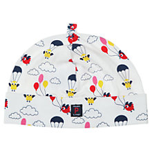 Buy Polarn O. Pyret Baby Bird Print Beanie Hat, White/Multi Online at johnlewis.com