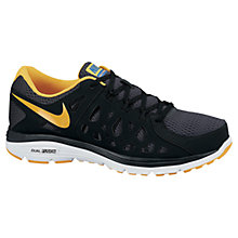 Buy Nike Dual Fusion Men's Running Shoes, Grey/Yellow Online at johnlewis.com