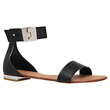 Buy Carvela Kudos Flat Leather Sandals Online at johnlewis.com