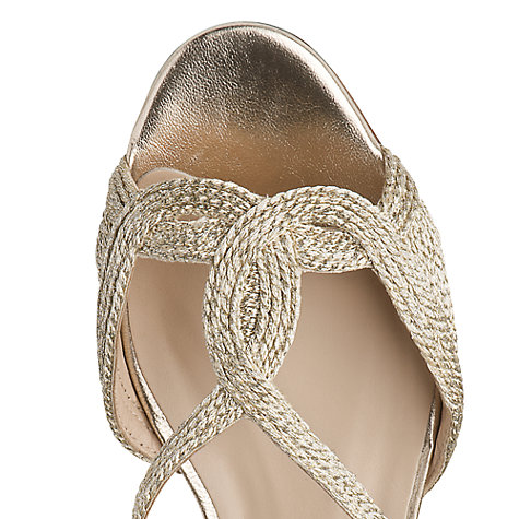 Buy L.K. Bennett Sadie Rope Detail Flat Sandals, Soft Gold Online at johnlewis.com