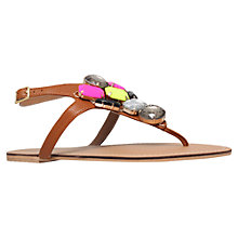 Buy Carvela Kent Jewel Embellished Leather Sandals, Tan Online at johnlewis.com