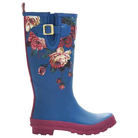 Buy Joules Printed Wellington Boots, Topaz Floral Online at johnlewis.com