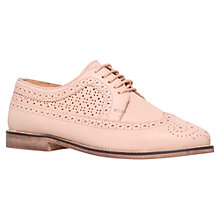 Buy Carvela Lad Flat Brogues, Nude Online at johnlewis.com