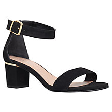 Buy Carvela Krispy High Heel Leather Sandals, Black Online at johnlewis.com