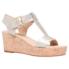 Buy Carvela Known Leather Wedge Heeled Sandals, Gold Online at johnlewis.com