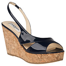 Buy L.K. Bennett Adelia Patent Cork Wedge Online at johnlewis.com