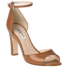 Buy L.K. Bennett Belen Point Patent Leather Ankle Strap Block Heel Sandals Online at johnlewis.com