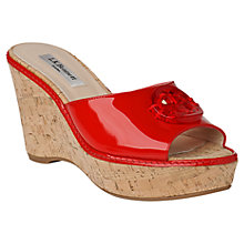 Buy L.K. Bennett Larah Tudor Rose Cork Wedges Online at johnlewis.com
