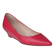 Buy L.K. Bennett Perla Pointed Toe Kitten Wedge, Raspberry Online at johnlewis.com
