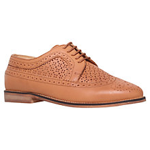 Buy Carvela Lad Flat Leather Brogues, Tan Online at johnlewis.com