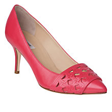 Buy L.K. Bennett Danna Leather Woven Detail Court Shoes Online at johnlewis.com
