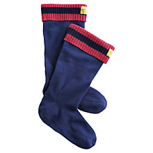 Buy Joules Rebel Welly Socks, Navy/Red Online at johnlewis.com