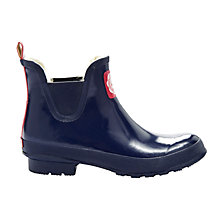 Buy Joules Wellibob Rubber Ankle Boots, French Navy Online at johnlewis.com