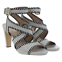 Buy Mint Velvet Isla Contrast Leather Sandals, Stone Online at johnlewis.com