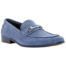 Buy Dune Adventure Suede Snaffle Loafers, Blue Online at johnlewis.com