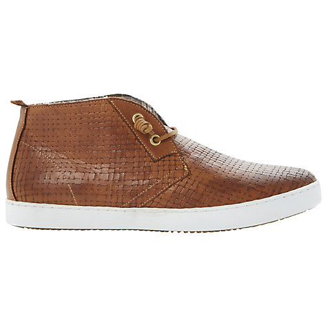 Buy Dune Slam Dunk Woven Leather Trainers Online at johnlewis.com