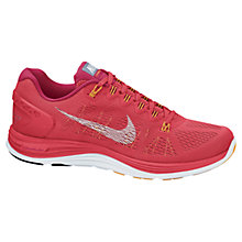 Buy Nike Women's LunarGlide+ 5 Running Shoes, Red Online at johnlewis.com