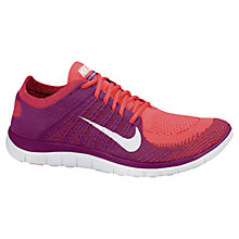 Buy Nike Free 4.0 Flyknit Women's Running Shoes, Purple Online at johnlewis.com