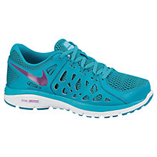 Buy Nike Dual Fusion Run 2 Women's Running Shoes, Turquoise Online at johnlewis.com