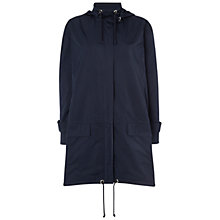 Buy Jaeger Zip Detail Mac, Navy Online at johnlewis.com