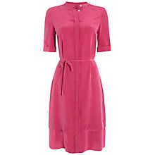 Buy Jaeger Gathered Waist Silk Dress Online at johnlewis.com