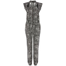 Buy Warehouse Graphic Cut Out Jumpsuit, Multi Online at johnlewis.com