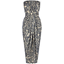 Buy Warehouse Leaf Bandeau Midi Dress, Cream Online at johnlewis.com