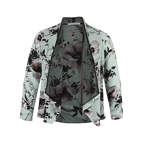 Buy Chesca Mesh Lined Poppy Shrug, Opal Online at johnlewis.com