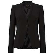 Buy Jaeger Fitted Seam Jacket, Black Online at johnlewis.com