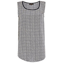 Buy Jaeger Dogtooth Shell Top, Ivory / Navy Online at johnlewis.com